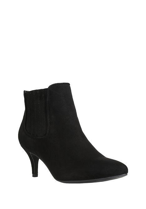 faef8763e544 Tesco direct  F F Faux Suede Kitten Heel Shoe Boots