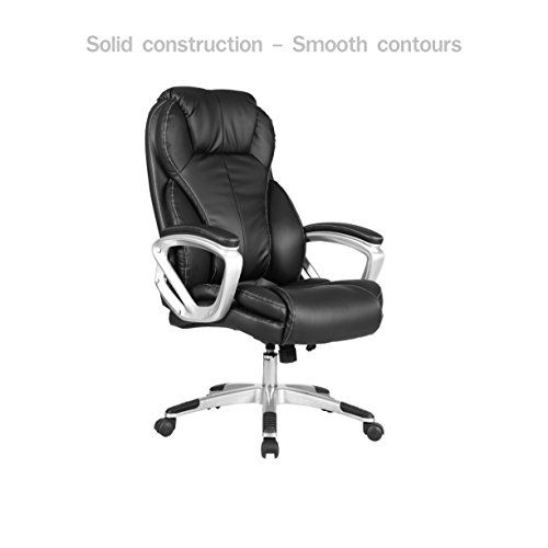 Posture Executive Leather Chair Hammock Stand Ebay Modern Office High Back Design Smooth Contours Adjustable Height Pu Upholstery Backrest Support Comfortable Armrest