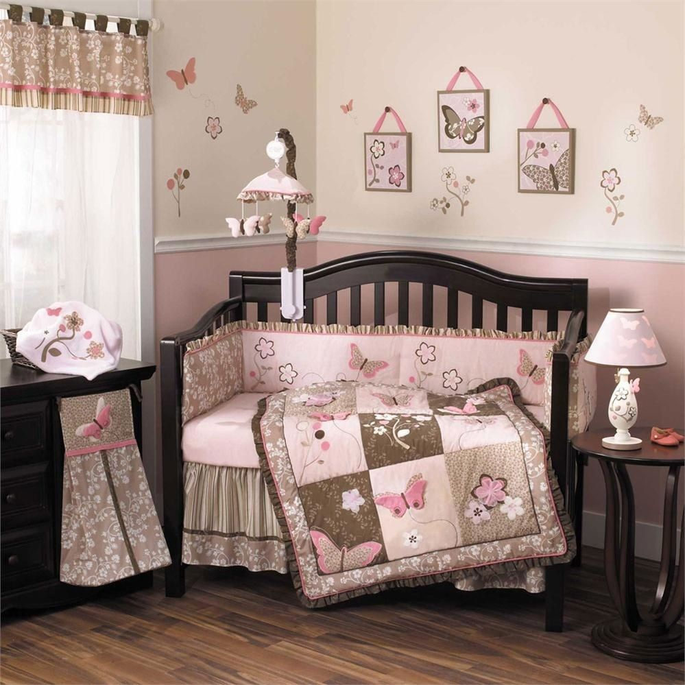 Baby bedding crib sets - Cocalo Mia Rose 6 Piece Crib Set A Lovely Garden Filled With Flowers And Butterflies Await Baby When You Decorate Her Nursery With The Cocalo Mia Rose