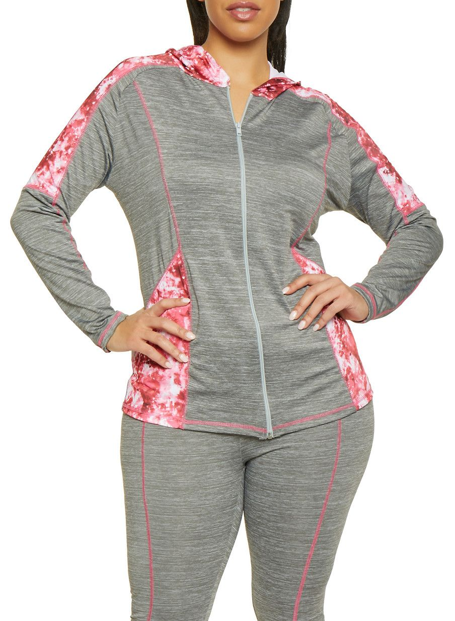fb048e77156 Plus Size Printed Color Block Active Top - Grey - Size 3X in 2019 ...