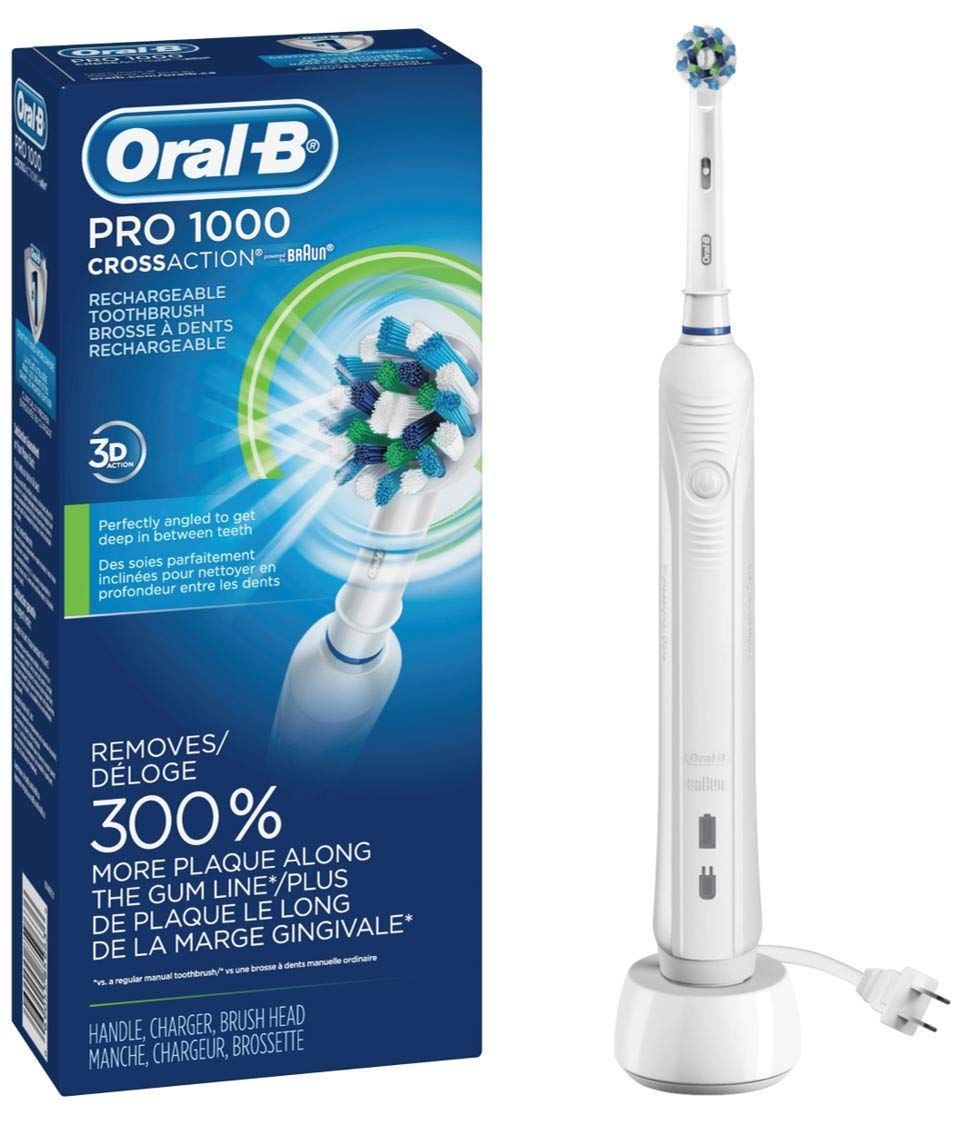 Oral B White Pro 1000 Power Rechargeable Electric Toothbrush Powered By Braun Brushing Teeth Rechargeable Electric Toothbrush Rechargeable Toothbrush