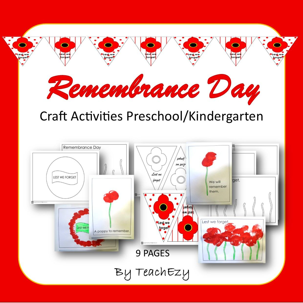 Remembrance Day Craft Preschool And Kindergarten