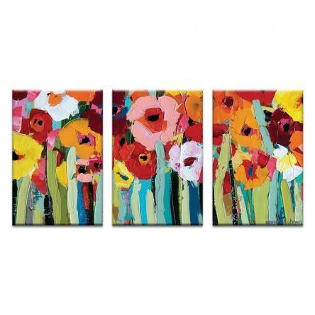 "/""Anitas Poppies/"" Canvas Art Print"