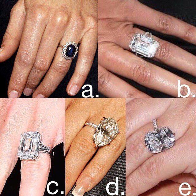 A B C D Or E Belongs To Who Beyonce Kim Kardashian Duchess Of Cambridge Mariah Kim Kardashian Engagement Ring Wedding Ring Bands Anniversary Ring Set