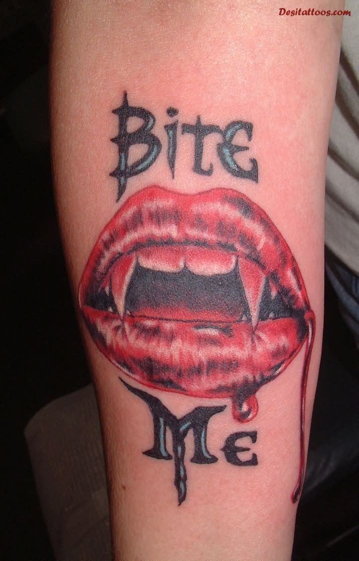 bite me vampire bite tattoo on 715 1118 small tattoos pinterest vampire. Black Bedroom Furniture Sets. Home Design Ideas