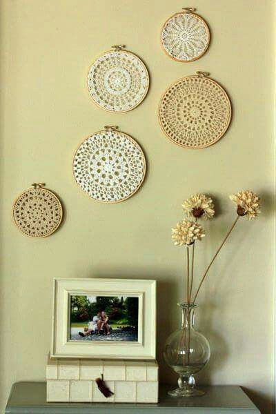 Pin by bella J on decor   Pinterest   Doilies crafts, Mandala and ...