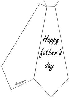 Greeting Card Happy Father S Day Coloring Page Father S Day Card Template Fathers Day Coloring Page Fathers Day