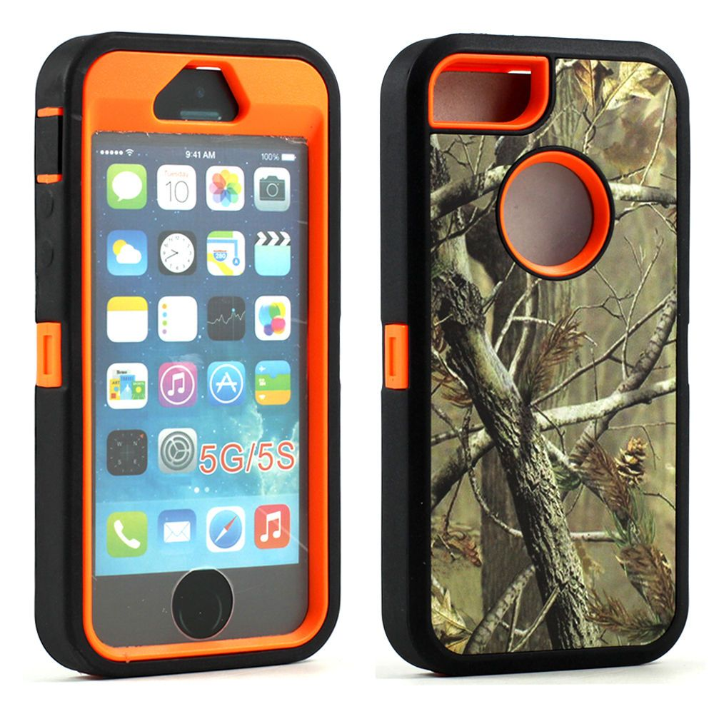 iPhone 5S/ 5 Camouflage Defender Case with Screen and
