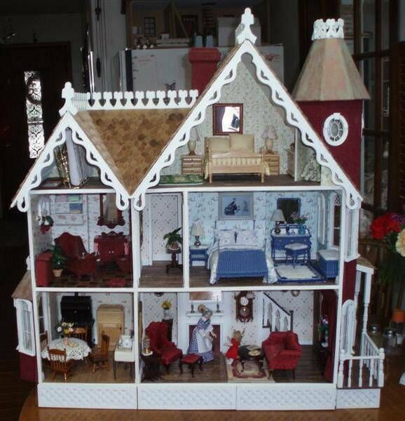 The Mckinley The Not So Deep Wall Hanging House That I Still Want Modern Dollhouse Furniture Dolls House Interiors Doll House