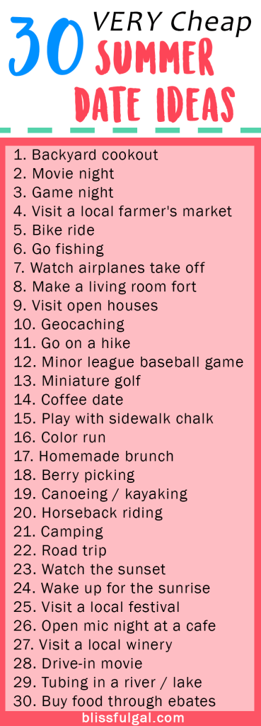 Summer Bucket List Ideas For 2019