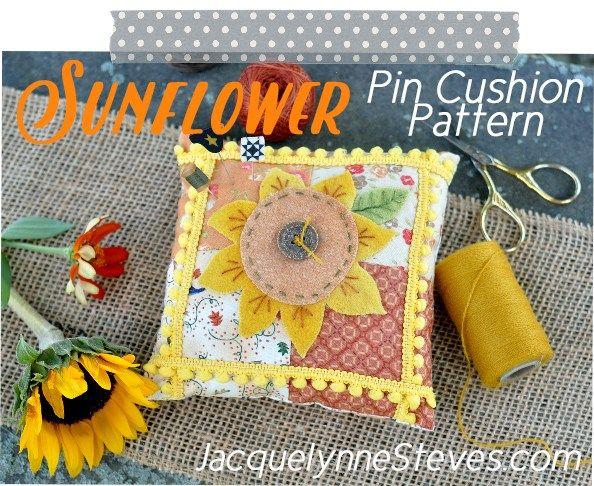 SunflowerPinCushionPattern-JacquelynneSteves2