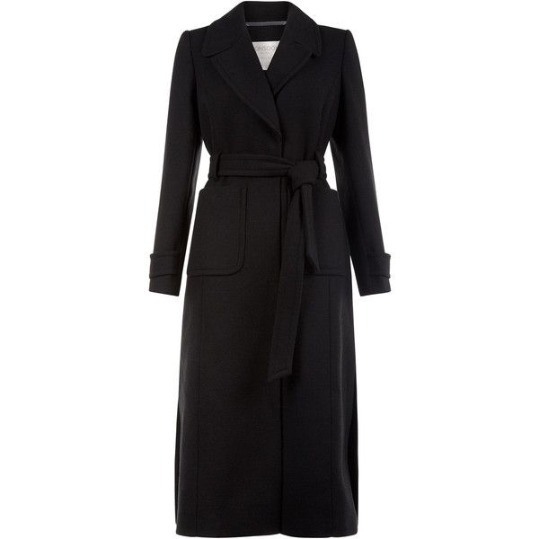 Monsoon Luna Maxi Coat (1 555 SEK) ❤ liked on Polyvore featuring outerwear, coats, coats & jackets, jackets, tie belt, monsoon coats and maxi coat