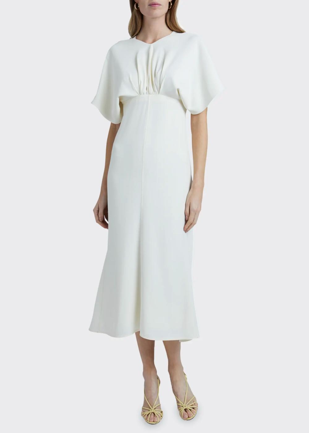 Victoria Beckham Batwing Midi Dress Bergdorf Goodman Fashion Fashion Outfits Dresses [ 1400 x 1000 Pixel ]