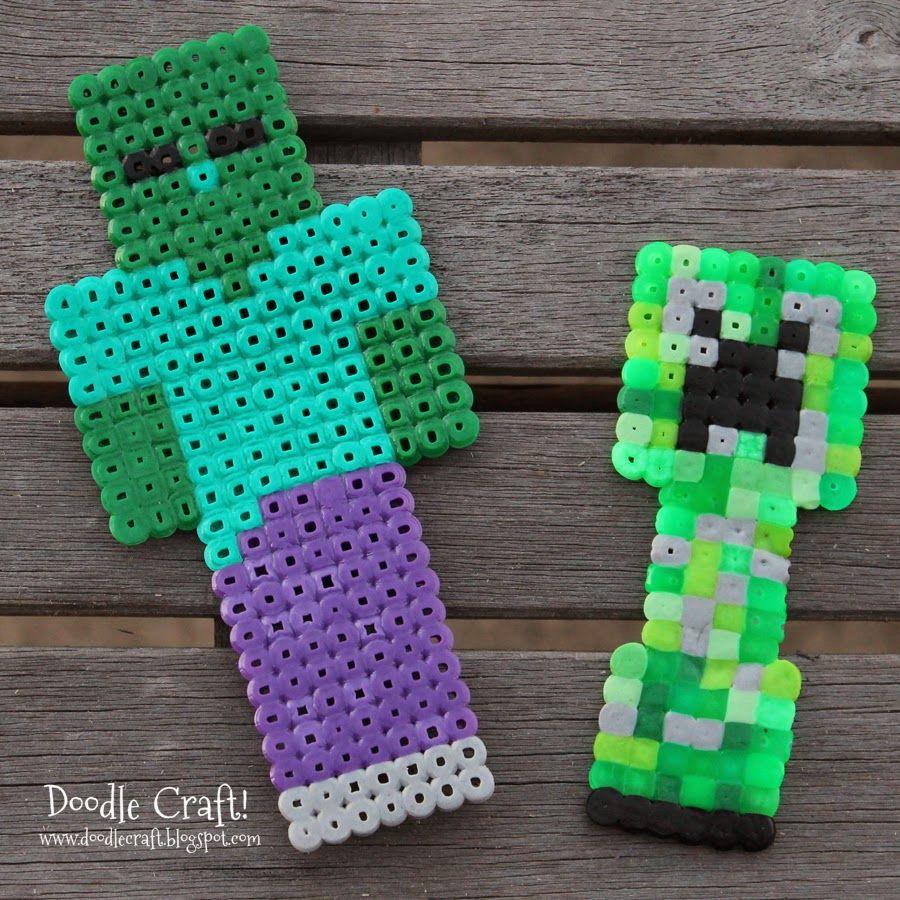 Minecraft Perler Beads!  Minecraft beads, Minecraft perler