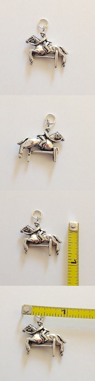 Other Artisan Jewelry 12519: 3D Derby Race Horse And Jockey Charm/Pendant. 6.1 Gr. Sterling Silver. BUY IT NOW ONLY: $33.0