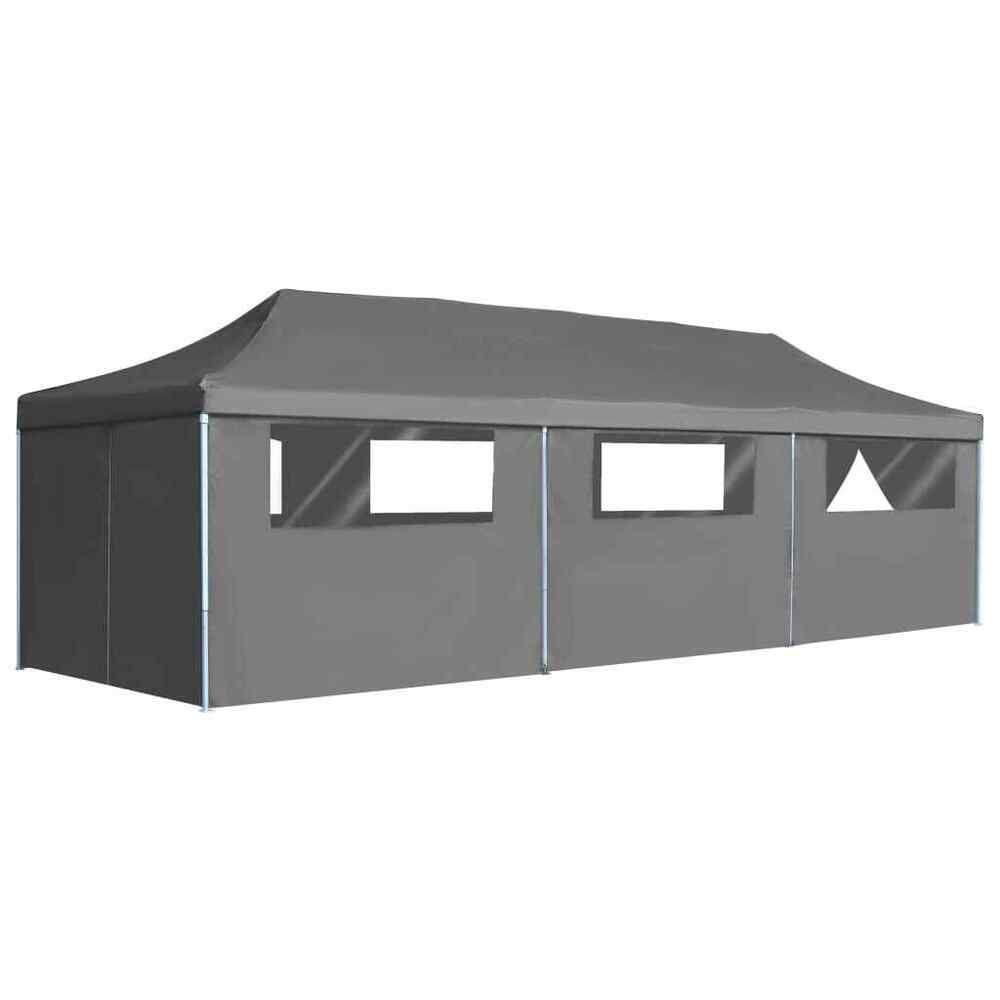 Details Sur Vidaxl Tente De Reception Pliable 8 Parois 3x9 M Anthracite Pavillon Tonelle Avec Images Chaises De Patio Tente Reception Couvertures De Chaises