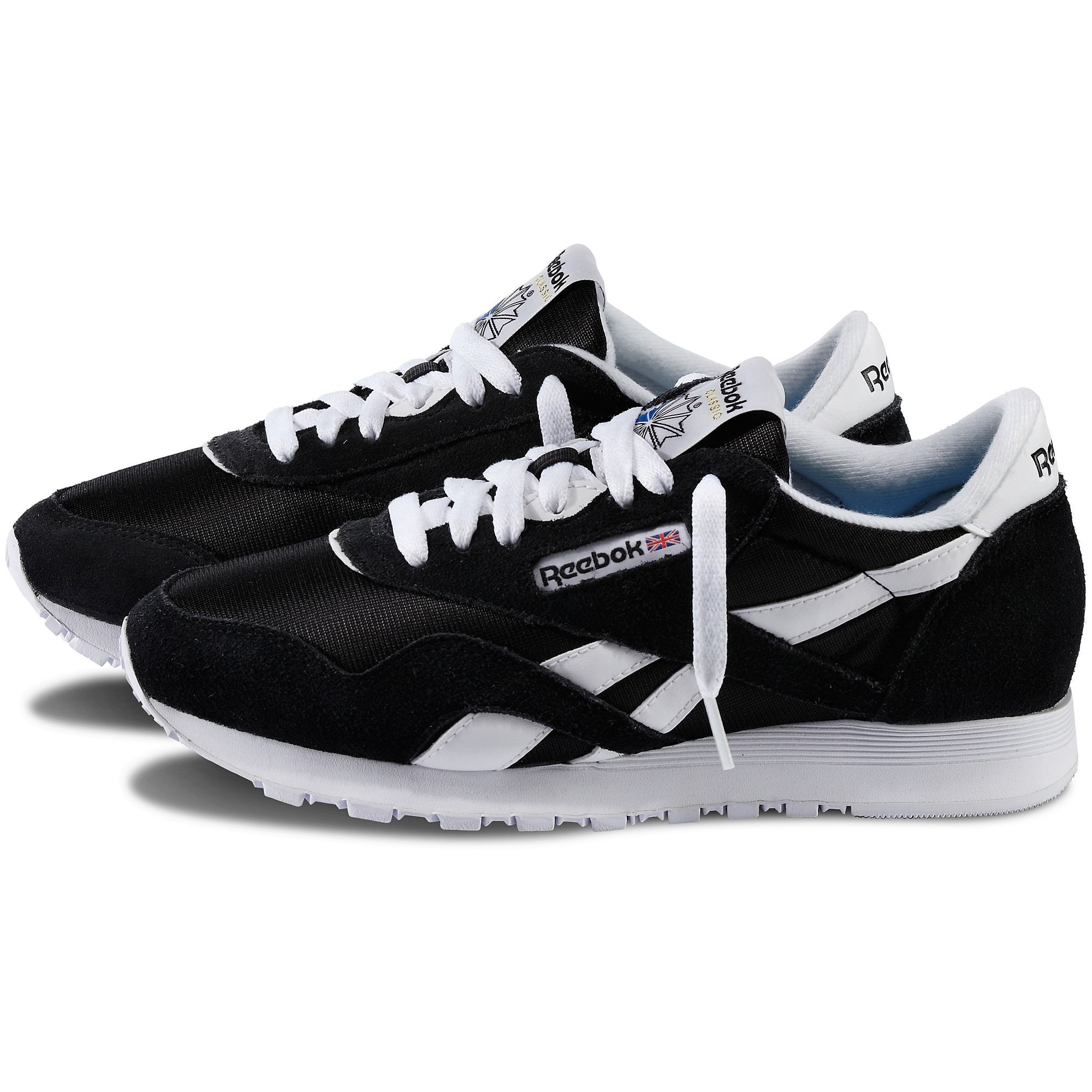 Reebok Shoes Women's Classic Nylon in BlackWhite Size 5