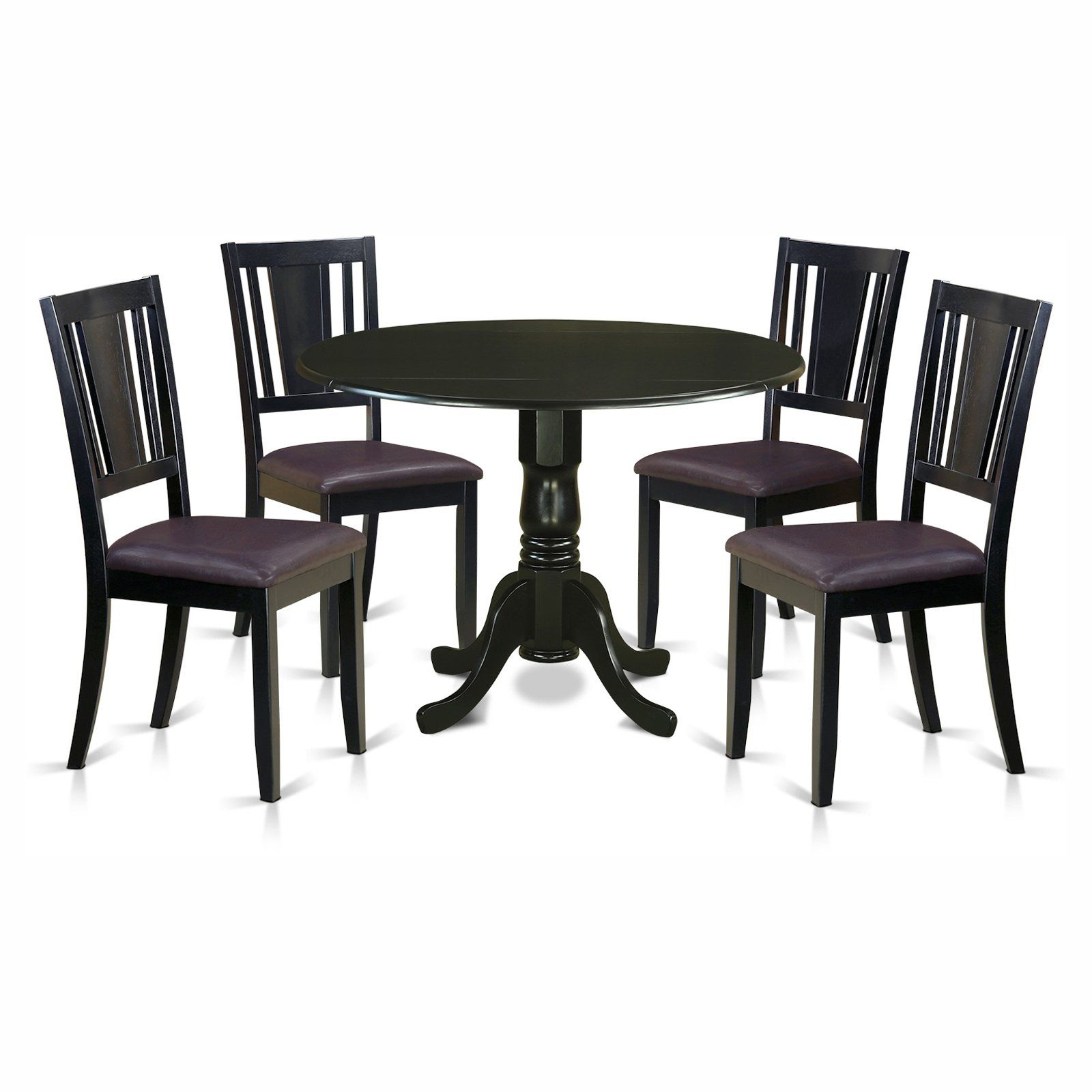 Magnificent East West Furniture Dublin 5 Piece Drop Leaf Dining Table Andrewgaddart Wooden Chair Designs For Living Room Andrewgaddartcom