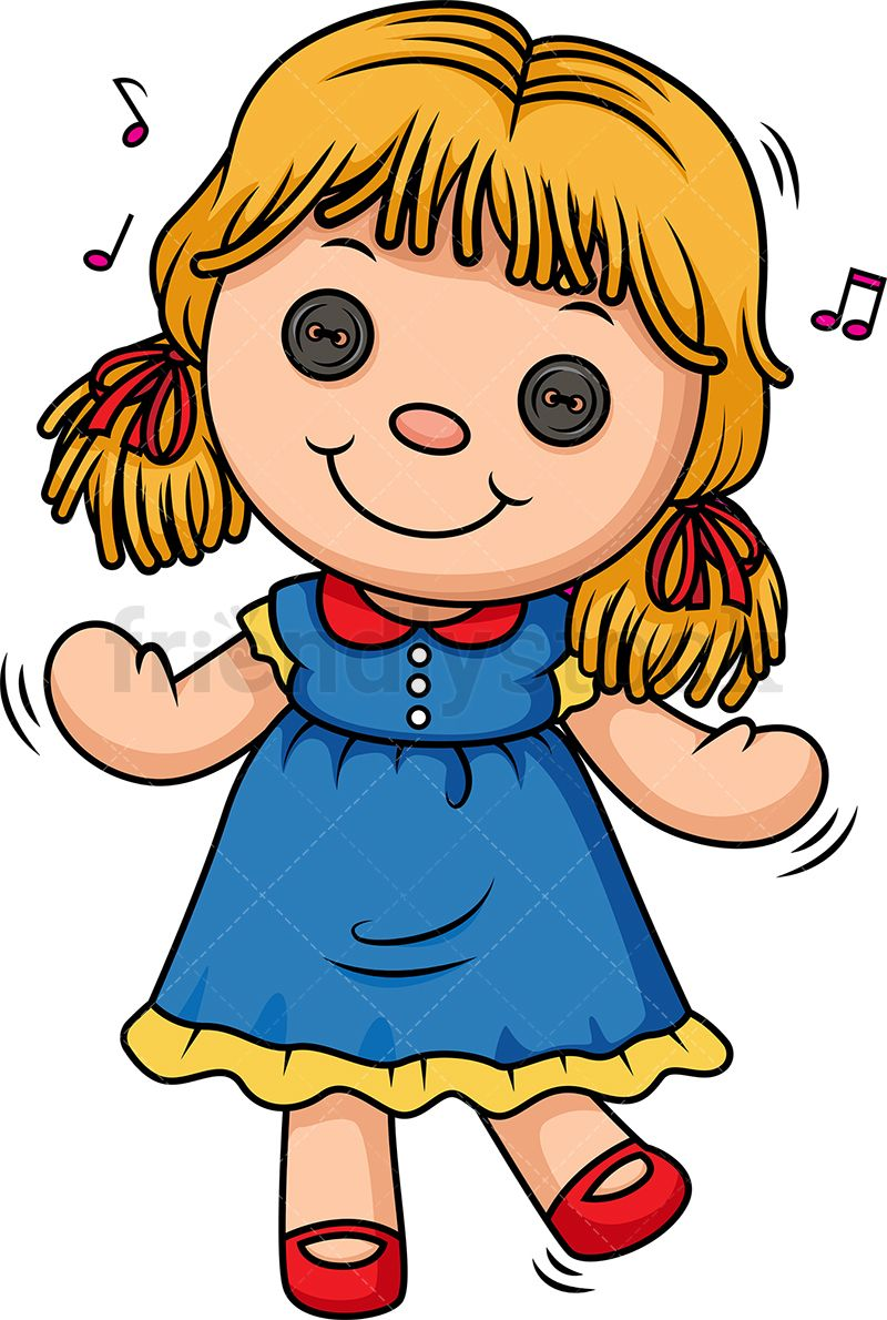 Doll Dancing With Images Cartoon Clip Art Creepy Little Girl
