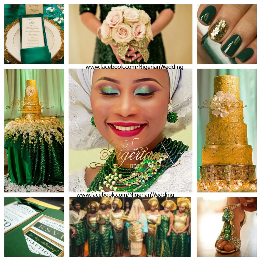Opulent Emerald Green & Gold Wedding Color Scheme