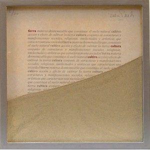 "Tierra-Cultivo-Cultura (2006) by Artist: Teresa Pereda | Soil, Handmade Paper, Wood, Glass | Size: 9.8"" x 9.8"" x 1.6"" 26 x 26 x 4 cm. | http://www.objectmythology.com/"