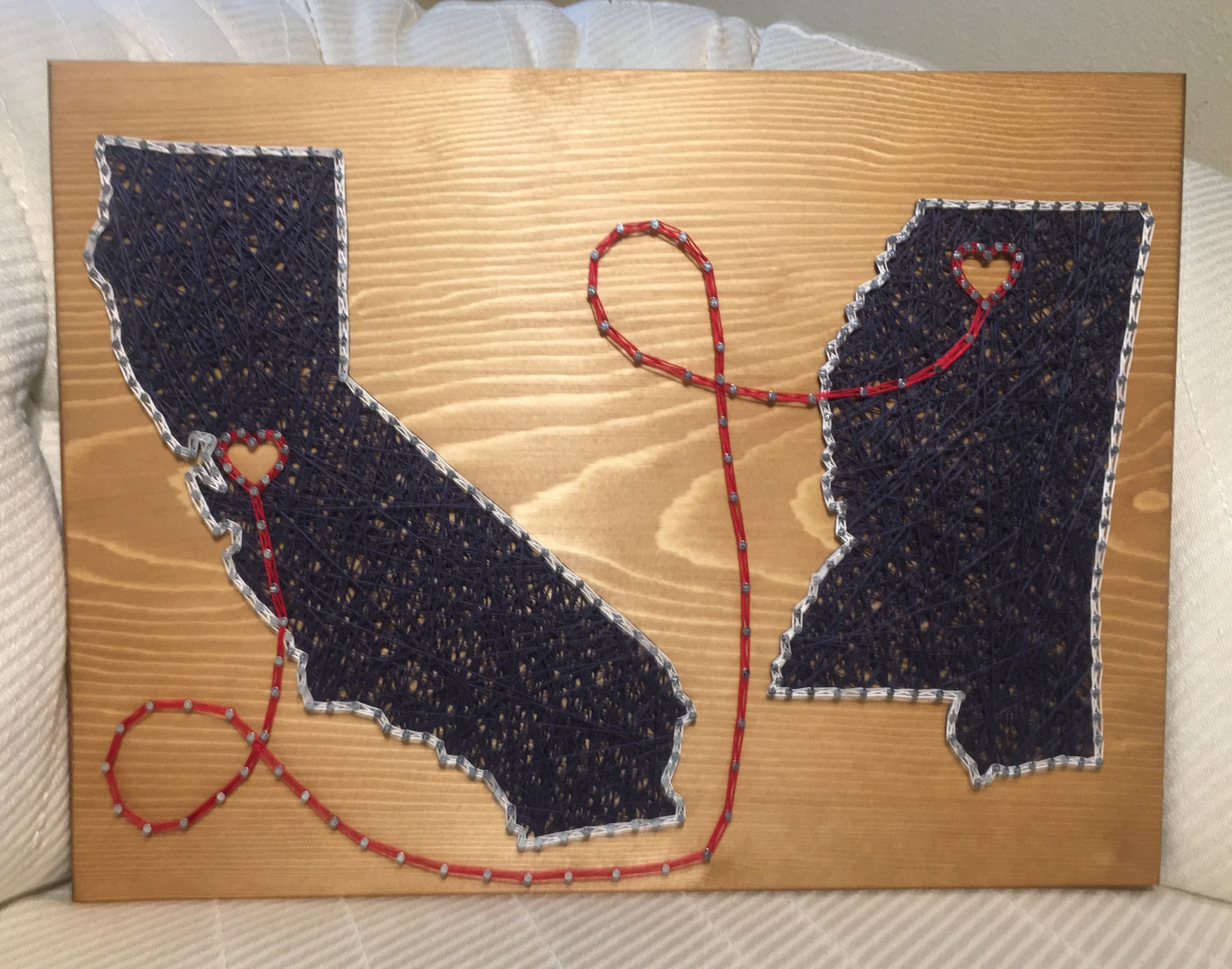 Double State Country String Art, California, Mississippi - order ...