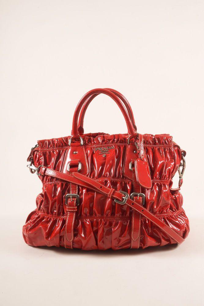 fb77ffbbae Prada Red Patent Leather