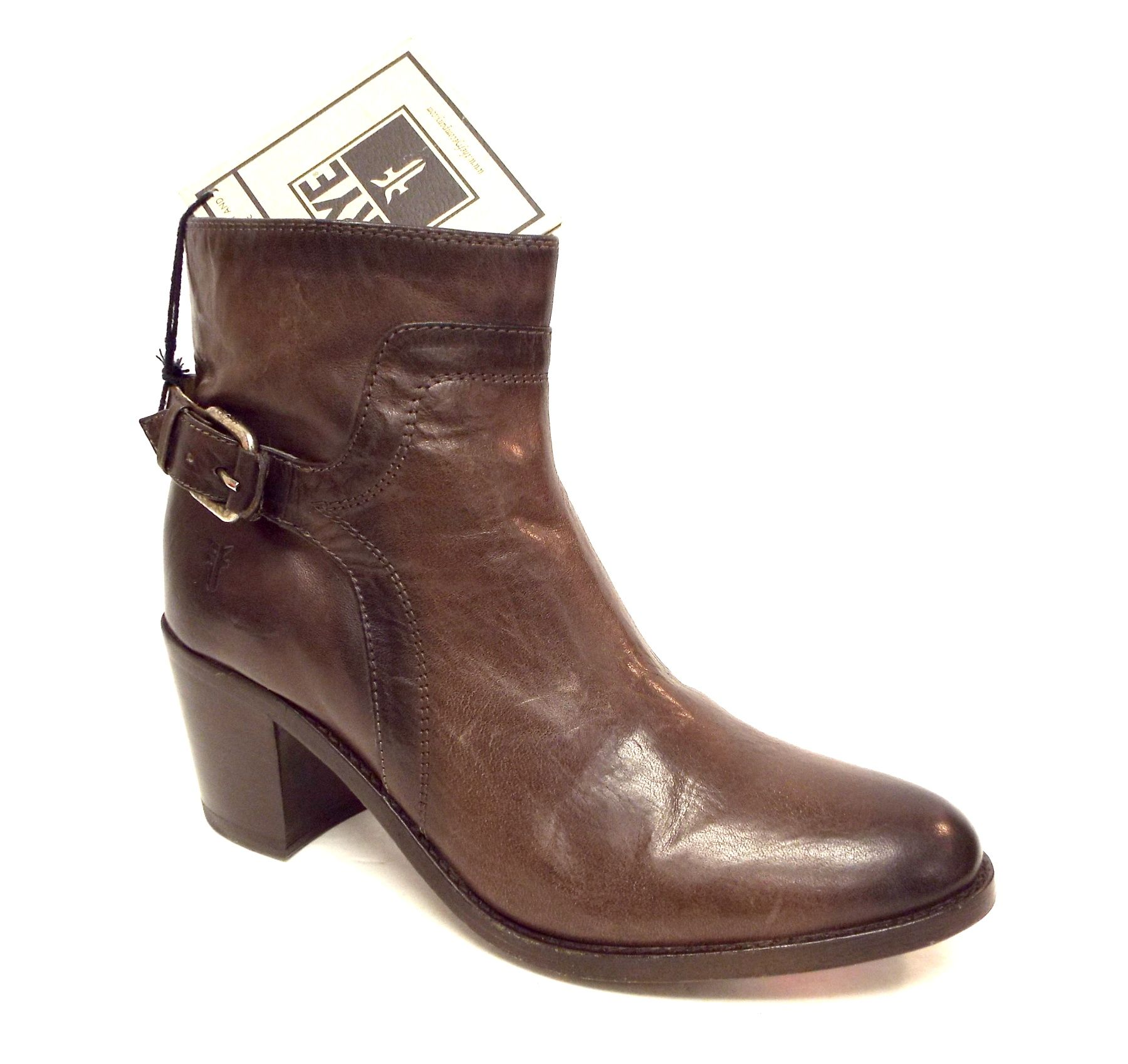 FRYE Brown JANIS SHIELD Short Leather Western Ankle Boot 8.5