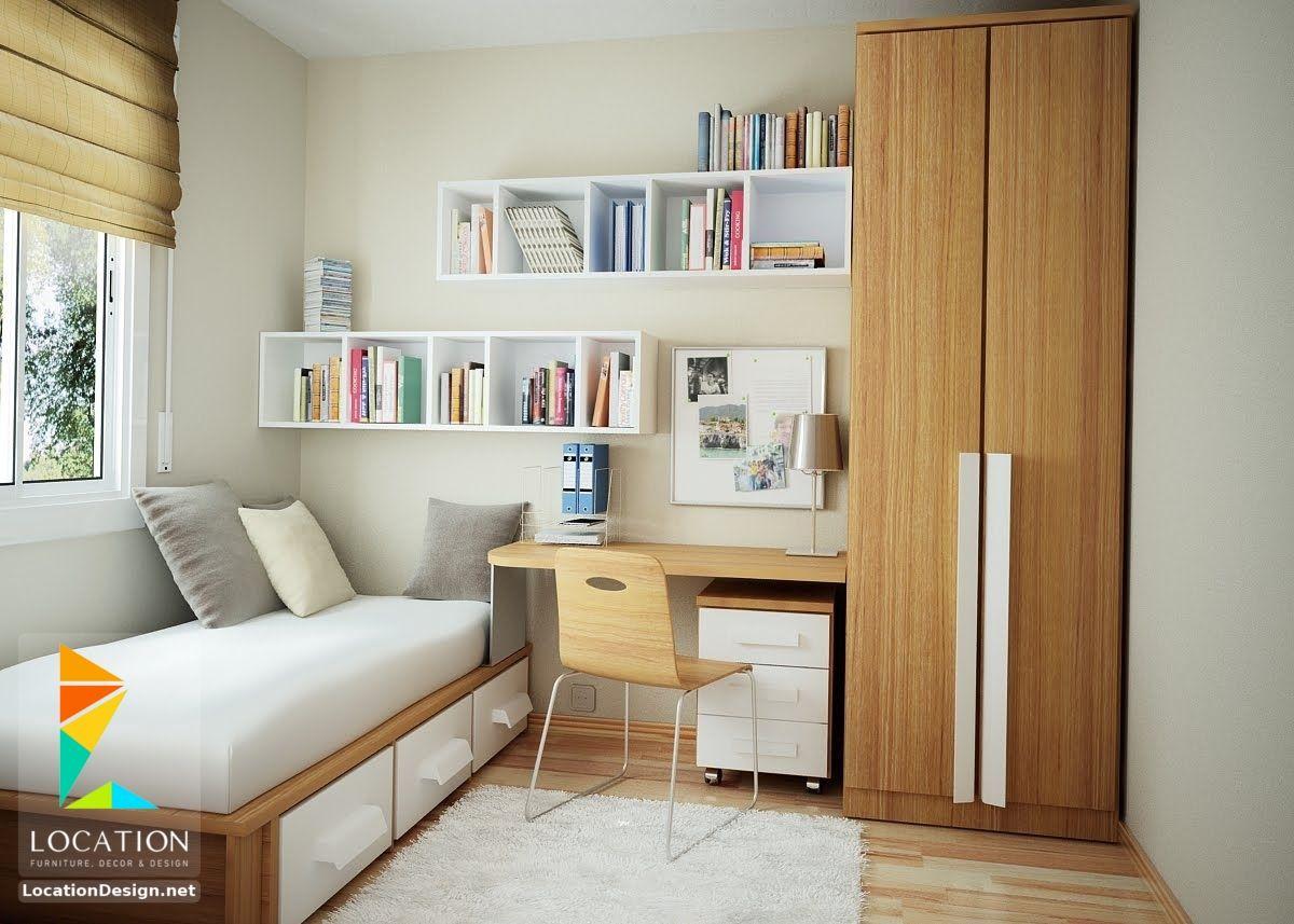 ديكورات غرف نوم صغيرة وبسيطة لوكشين ديزين نت Small Room Bedroom Small Room Design Minimalist Bedroom Design