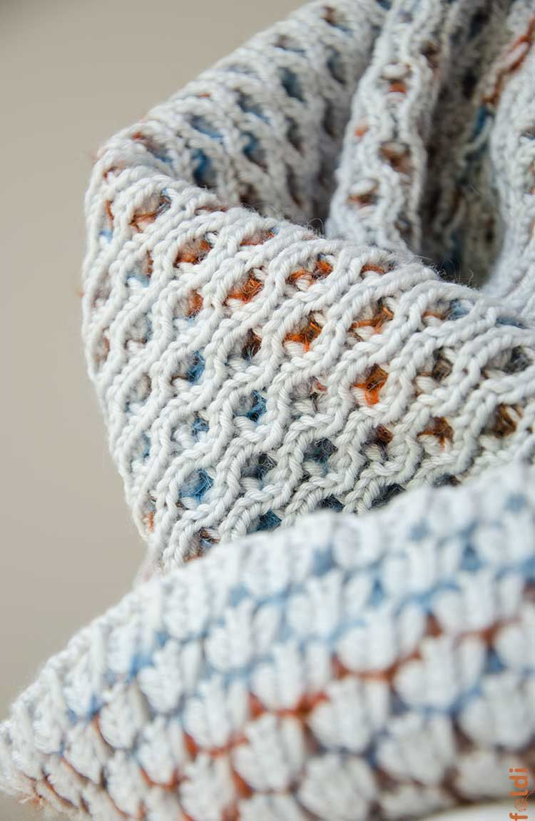 Knitted cowl, merino wool tube scarf, reversible cowl, snood, in ...
