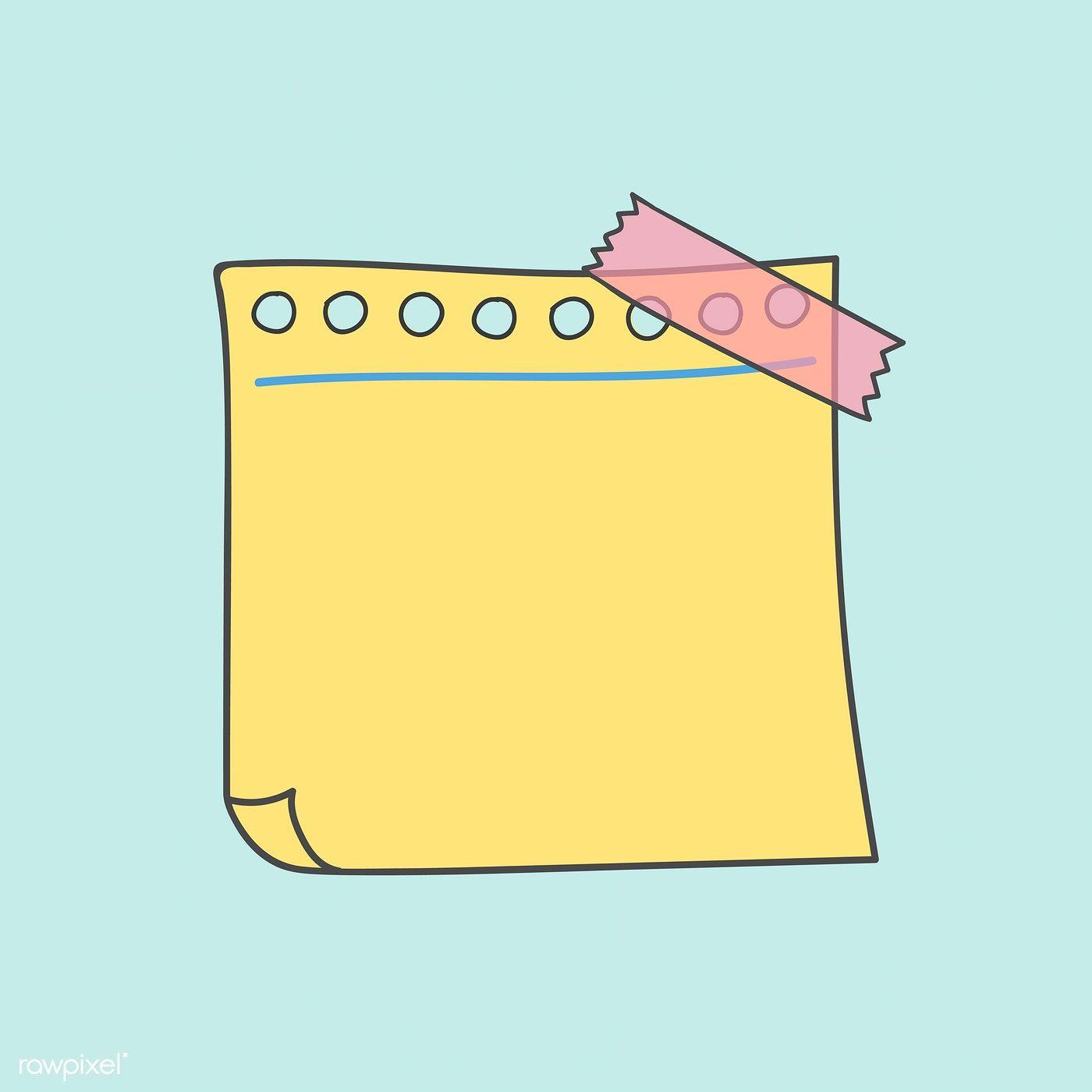 Download Premium Vector Of Blank Yellow Note Paper Vector 553845 Fondos Para Blog Titulos Bonitos Para Apuntes Fondos Para Textos