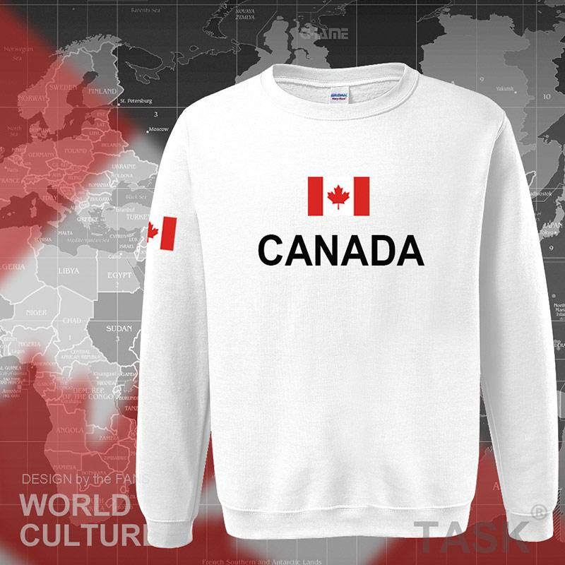 Canada hoodies men sweatshirt sweat new streetwear clothing jerseys footballer tracksuit nation Canadians flag fleece CA