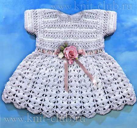 Вязание детских платьев и юбочек