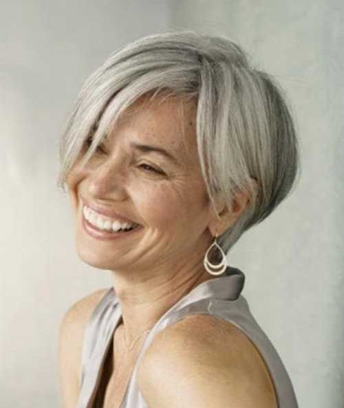 15 Hairstyles For Short Grey Hair Kurze Graue Haare Frisuren