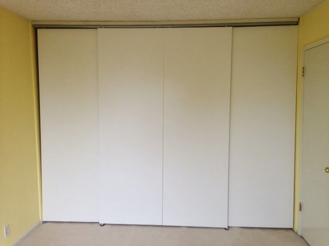 Full Height, Wall-to-Wall Sliding Bypass Doors Using HASVIK Panels - Armoire Ikea Porte Coulissante