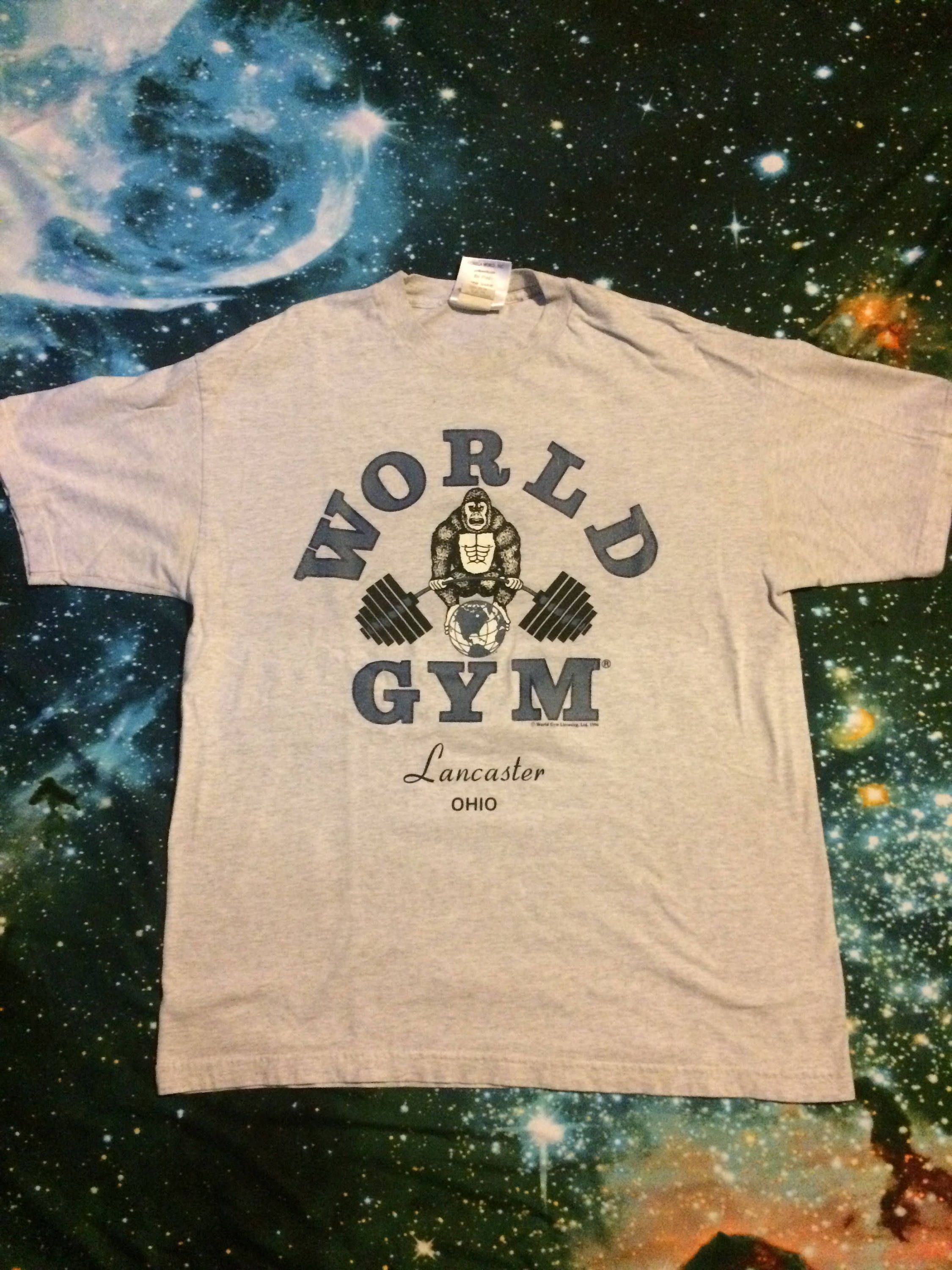 Vintage World S Gym Over Sized Workout Athletic T Shirt By Vintagevanshop On Etsy Mens Tops Mens Tshirts Gym Shirts