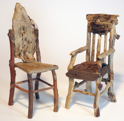 Miniature Rustic Twig Furniture by George C. Clark: 2011 #twigfurniture Miniature Rustic Twig Furniture by George C. Clark: 2011 #twigfurniture