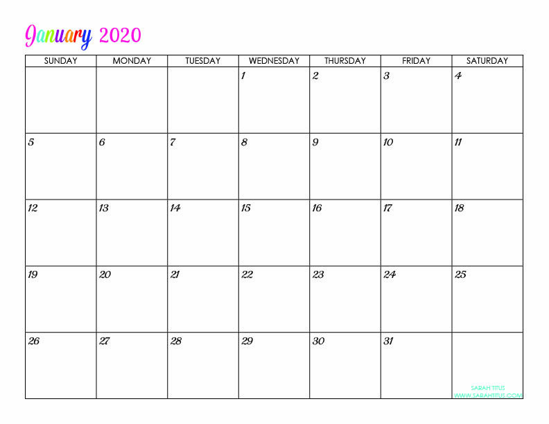 Free Printable 2020 Calendars Completely Editable Online Use Them For Menu Pla Free Printable Calendar Monthly Free Printable Calendar Calendar Printables