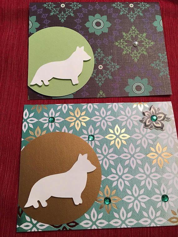 Corgi cards  set of 2 cards