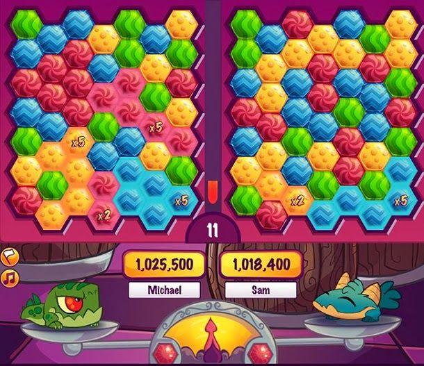 Entre em grandes duelos de combinar cores com outros jogadores em Munchie Mania e seja o vencedor supremo.