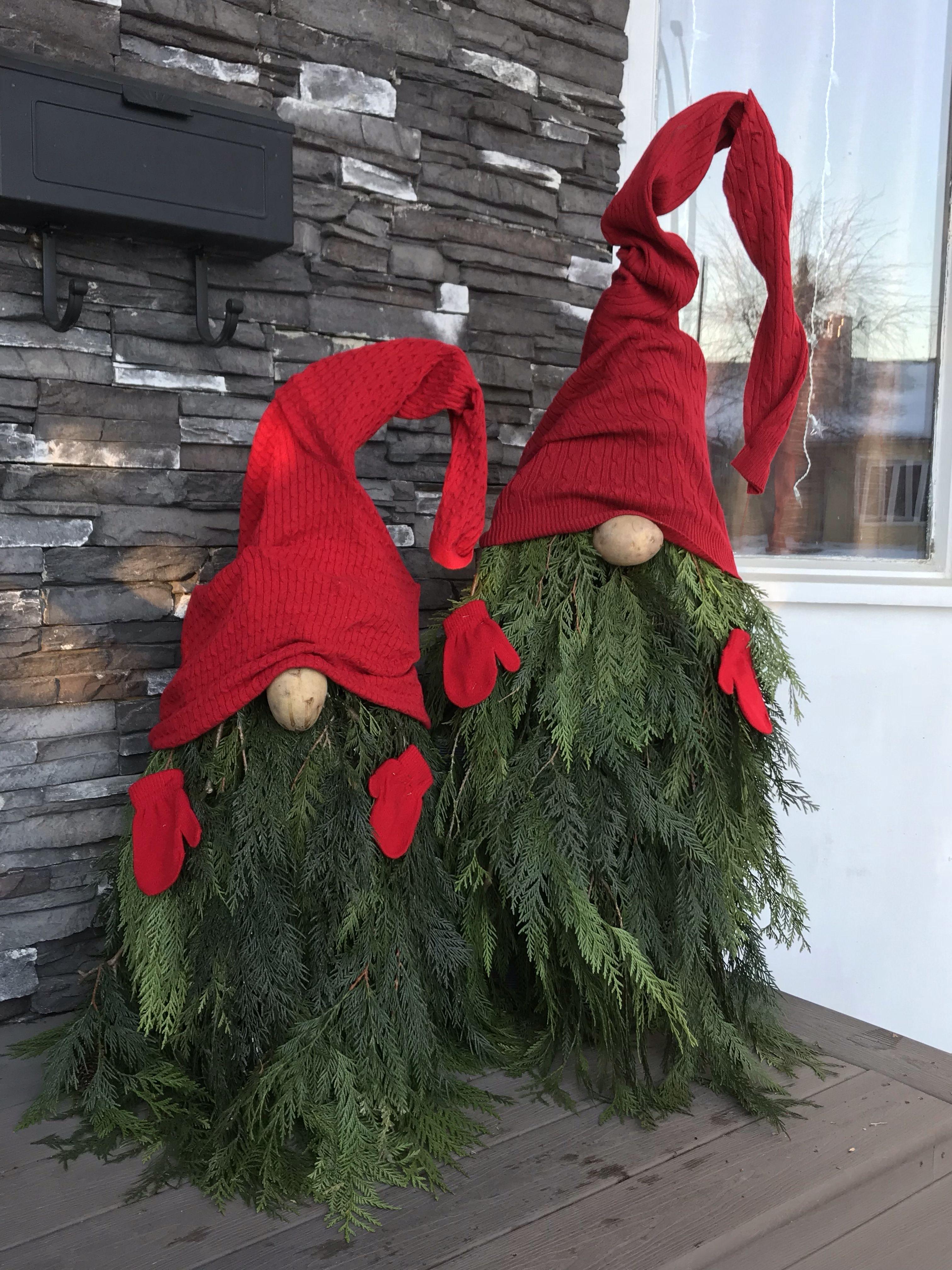 Christmas Gnome Porch Christmas Decorations Diy Outdoor Diy Christmas Decorations Easy Outdoor Christmas Diy