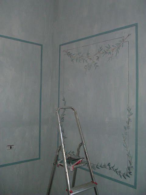 Marzia-Sofia Salvestrini Shabby è Chic! : Lavori .2005 Una camera da letto in stile Gustaviano.