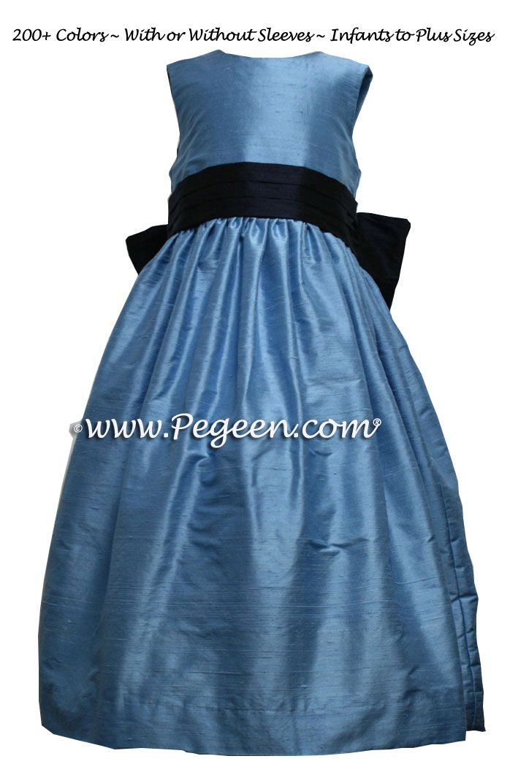 44ffb8470 Blue Silk Flower Girl Dresses