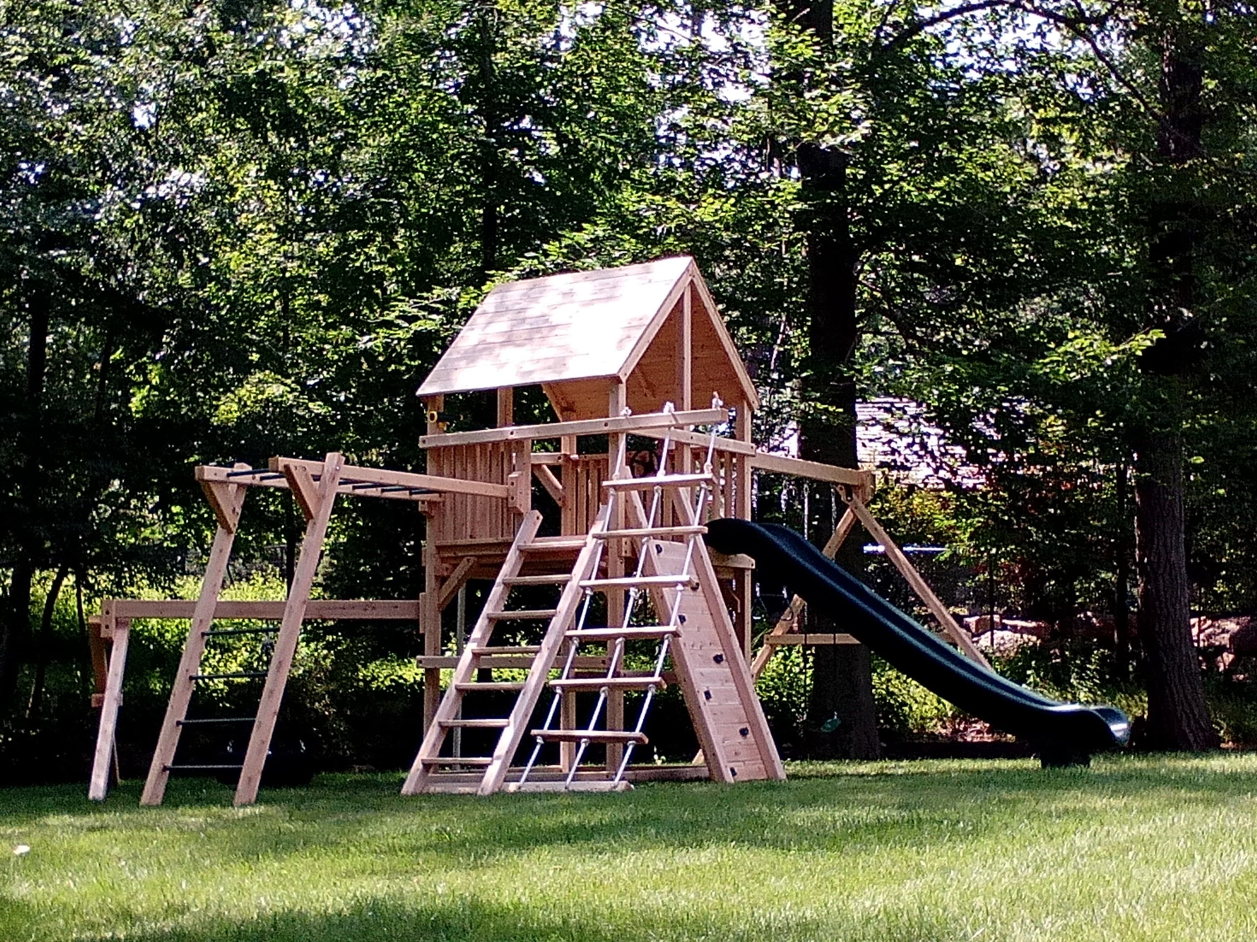 Bailey Climber With Options White Cedar Swing Set Www