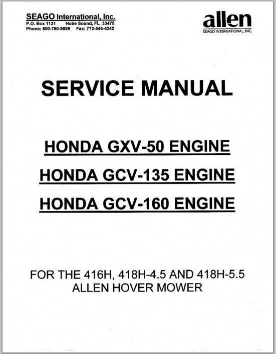 Service Manual Honda Gcv Seago International
