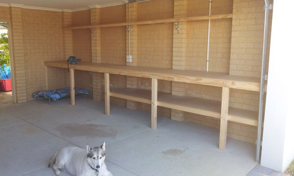 Built In Workbench In Garage