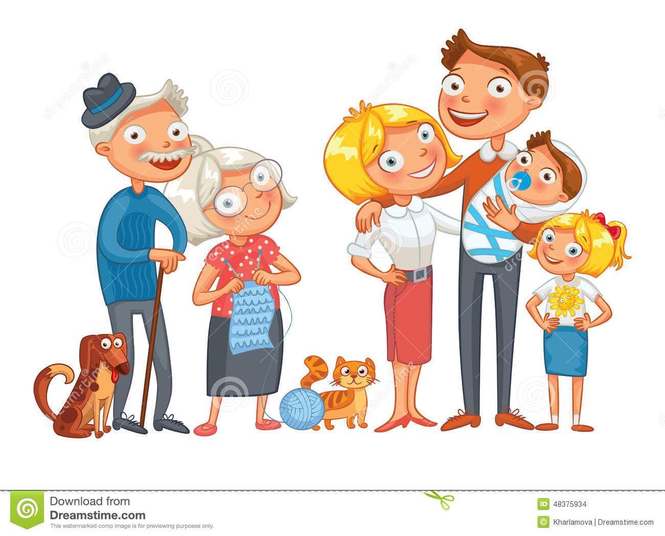 bighappyfamilyconsistingfathermotherdaughterson