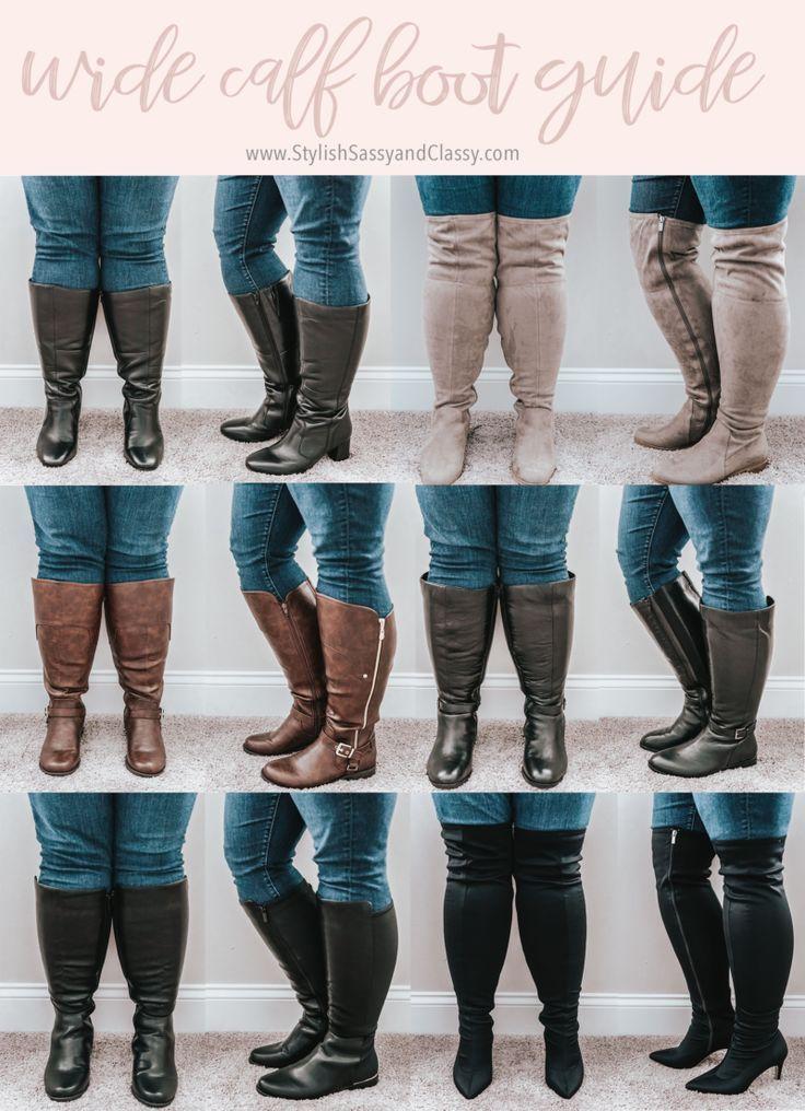 Wide calf winter boots
