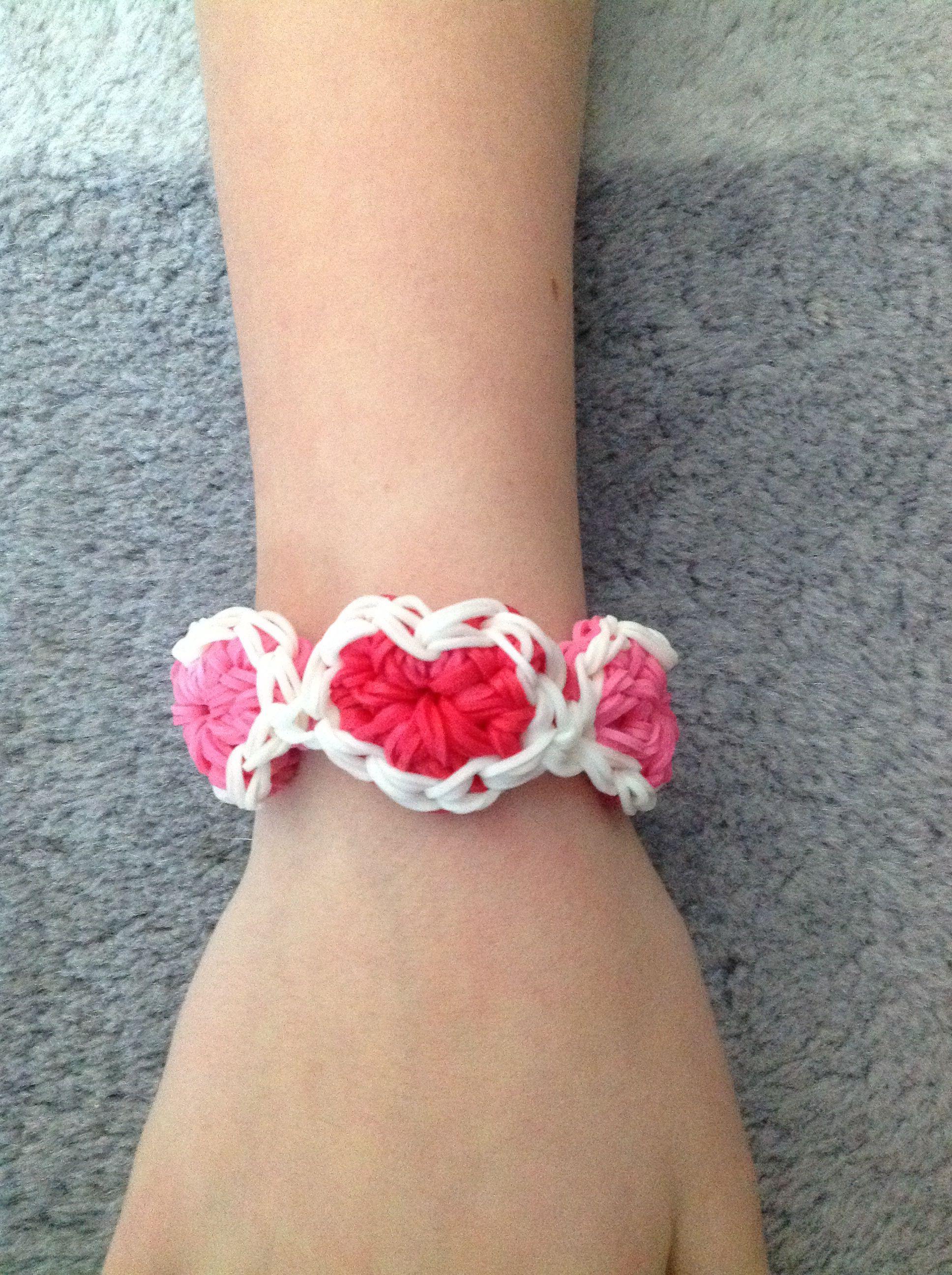 Valentine Bracelets Justin Toys : Diamond ridge bracelet heart patterns toy and rainbow loom