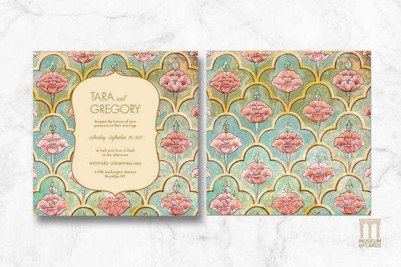 Indian Wedding Printable Invitation Downloadable PDF Template